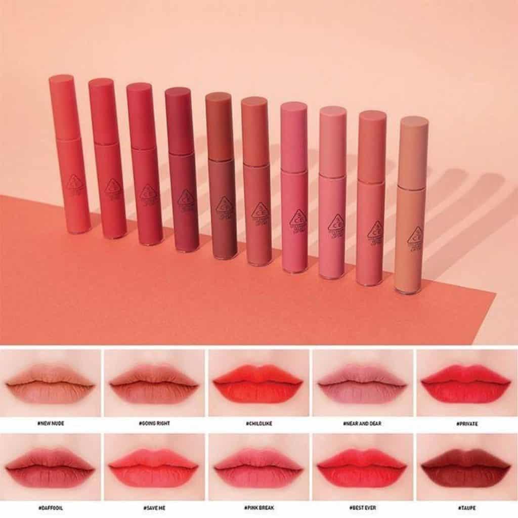Chất son mịn nhẹ môi của 3CE Vetvel Lip Tint